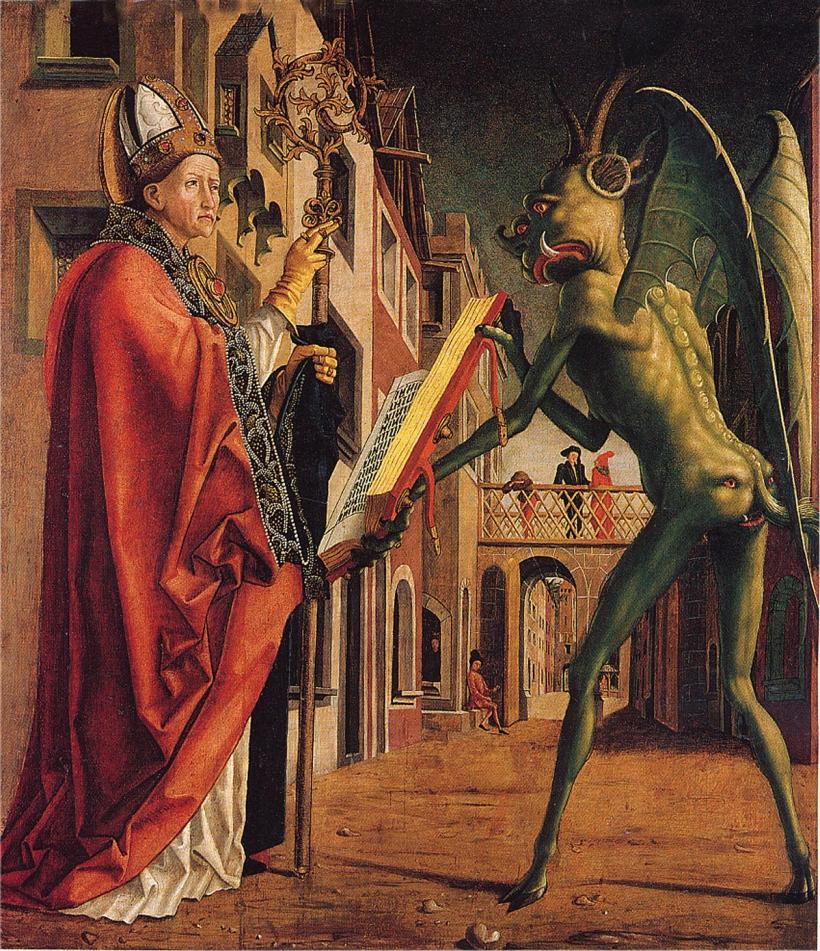 San Agustín y el diablo de Michael Pacher