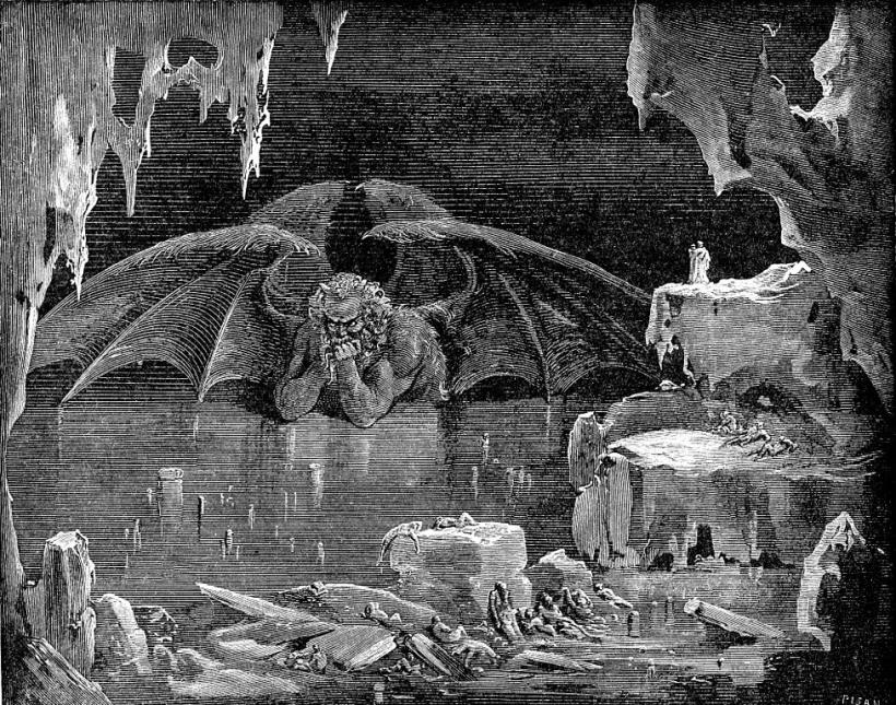 Satanás en el Infierno de Dante por Gustave Doré