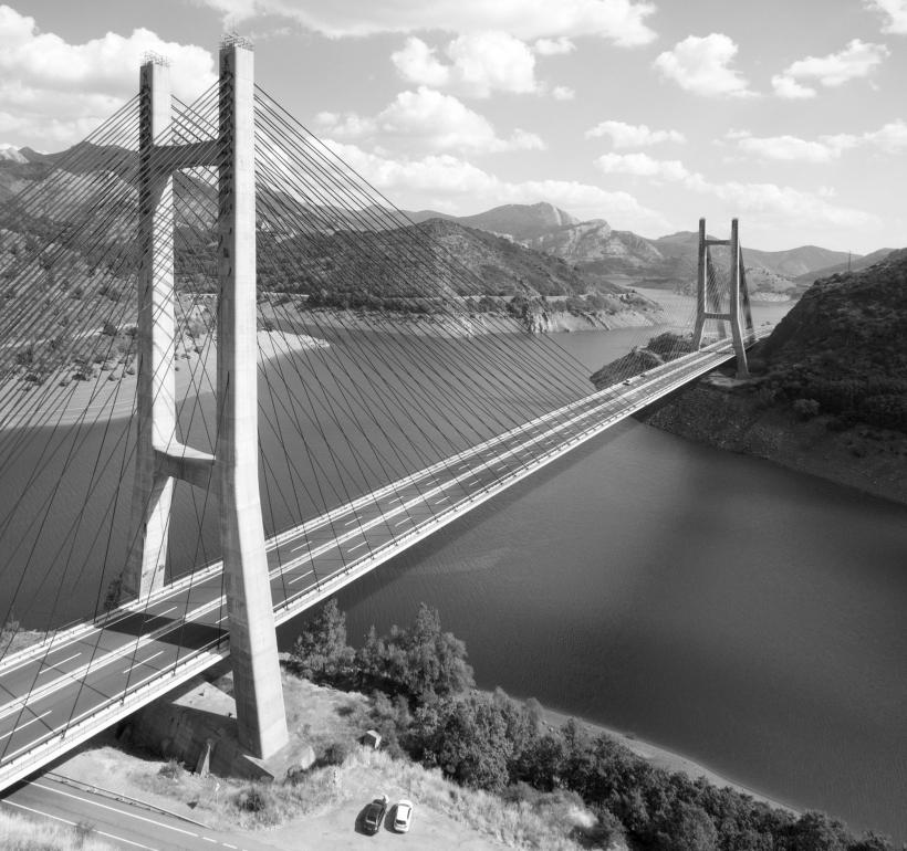 2. Puente Carlos Fernandez Casado sobre el embalse de Barrios de Luna Leon 1983