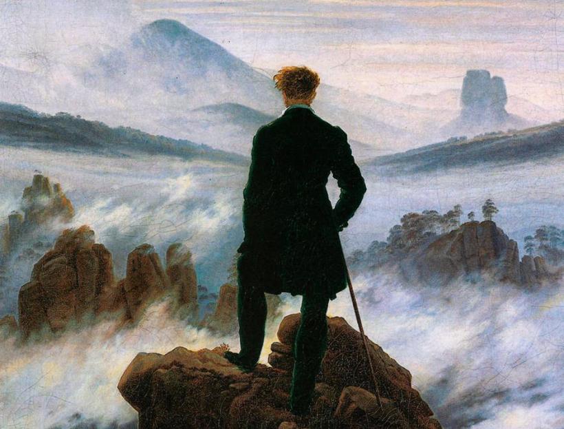 El caminante sobre sobre el mar de nubes