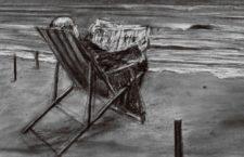 """William Kentridge """"Drawing for Tide Table"""", 2011. Carbón vegetal sobre papel. Cortesía del artista."""