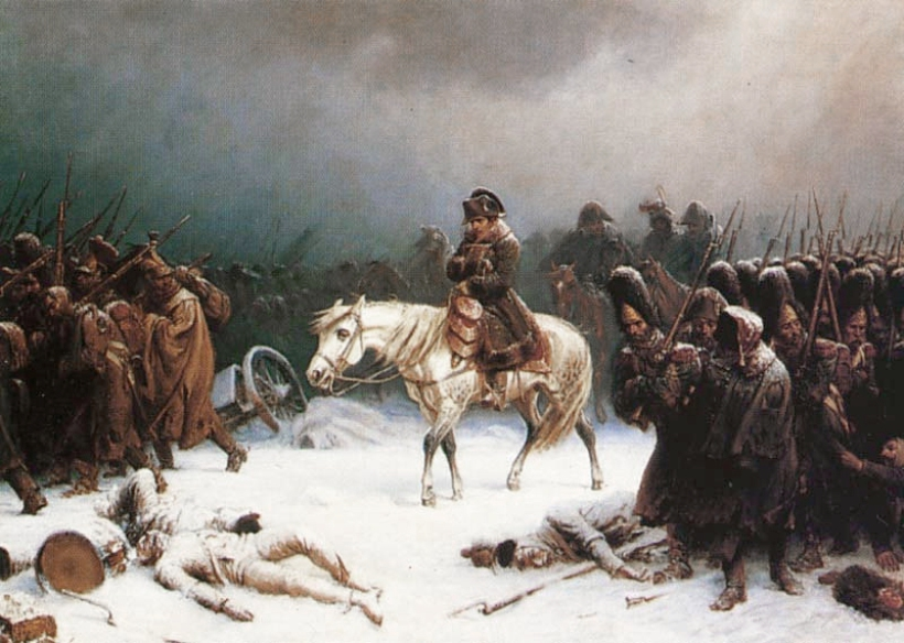 Napoleon retirandose de Moscu por Adolph Northen.