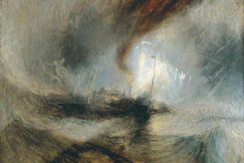Steam Boat off a Harbours Mouth in Snow Storm 1842