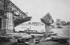 Construcción del puente Eads en San Luis. (DP)