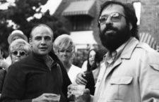 Francis Ford Coppola con Marlon Brando durante el rodaje de El padrino. Foto: Cordon.
