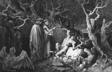 Dante con Virgilio en una ilustración de Gustave Doré para La divina comedia.