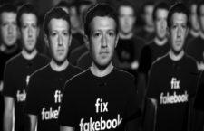 Cien figuras de cartón con la cara de Mark Zuckerberg, el CEO de Facebook, instaladas por Avaaz frente al Capitolio de Estados Unidos en 2018. Fotografía: Saul Loeb / Getty.