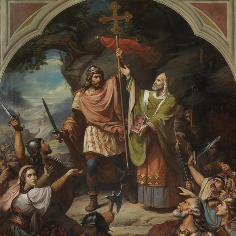 Don Pelayo en Covadonga por Luis de Madrazo, 1855
