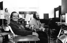 Jack Nicholson y Stanley Kubrick durante el rodaje de The Shining, 1980. Fotografía: Getty.