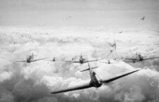 Un escuadrón de cazas alemanes Me109 en Battle of Britain, 1968. Fotografía: Getty. JV44