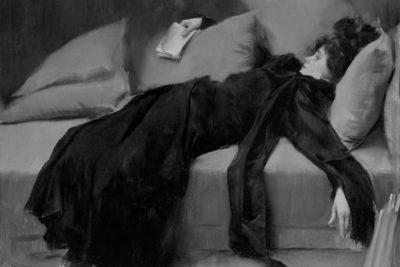 Joven decadente (1899), de Ramón Casas.