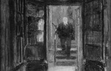 Victor Hugo bajando por el mirador de Hauteville House