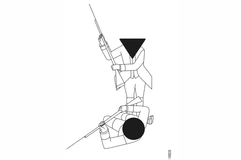 Ilustración Pablo Amargo escribir en las trincheras