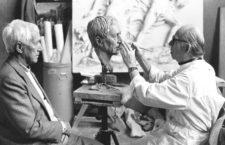 Ernst Jünger posa para un busto de Arno Breker, 1982. Fotografía: Cordon Press.