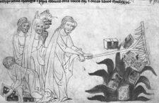 Detalle de una iluminación que muestra la quema de libros durante un auto de fe celebrado en Francia en el s. XVI. Imagen: Cordon Press
