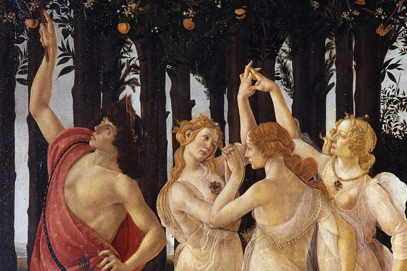 Detalle de la Primavera, Botticelli