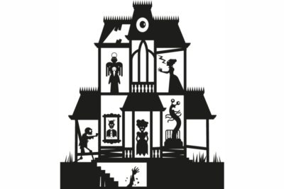 La casa del terror. Ilustración: Tau.