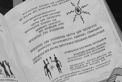 Lenguaje atlante creado para la películaAtlantis: el imperio perdido. Imagen: Disney.