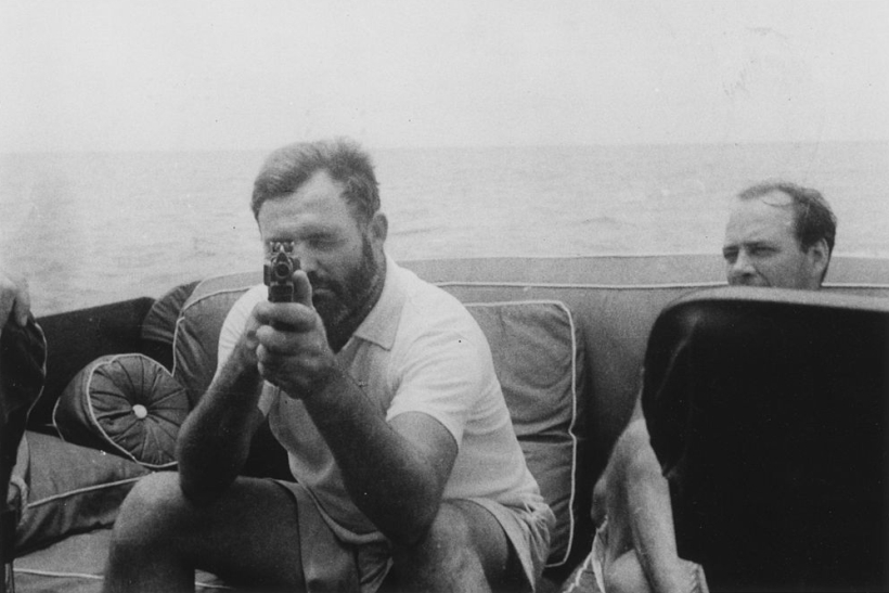 Ernest Hemingway Aboard the Pilar 1935