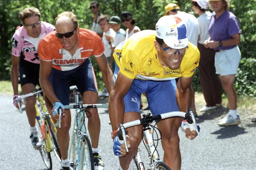 Miguel Indurain y Bjarne Riis en el Tour de Francia