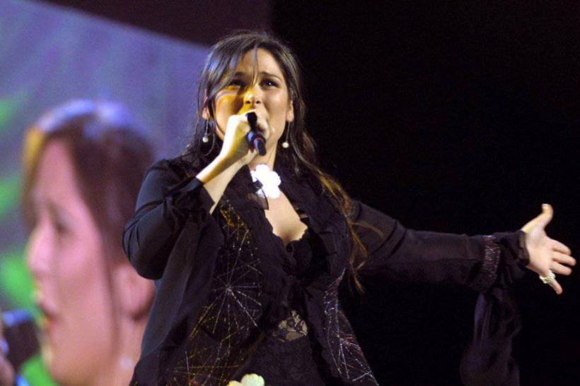 Rosa López en el Festival de Eurovisión de 2002. Imagen Unión Europea de Radiodifusión.